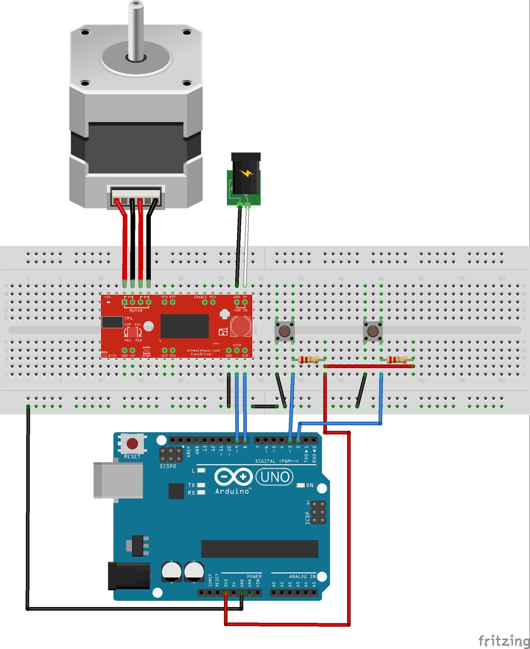 Example 1 6 Setup Schrittmotor Arduino Schrittmotor Arduino Projekte
