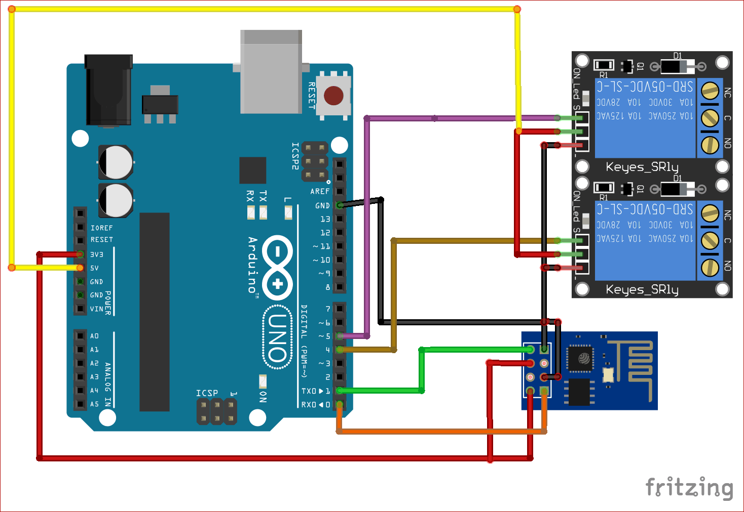 Circuit Diagram For Arduino Based Amazon Alexa Controlled Home Automation Arduino Amazon Alexa Home Automation