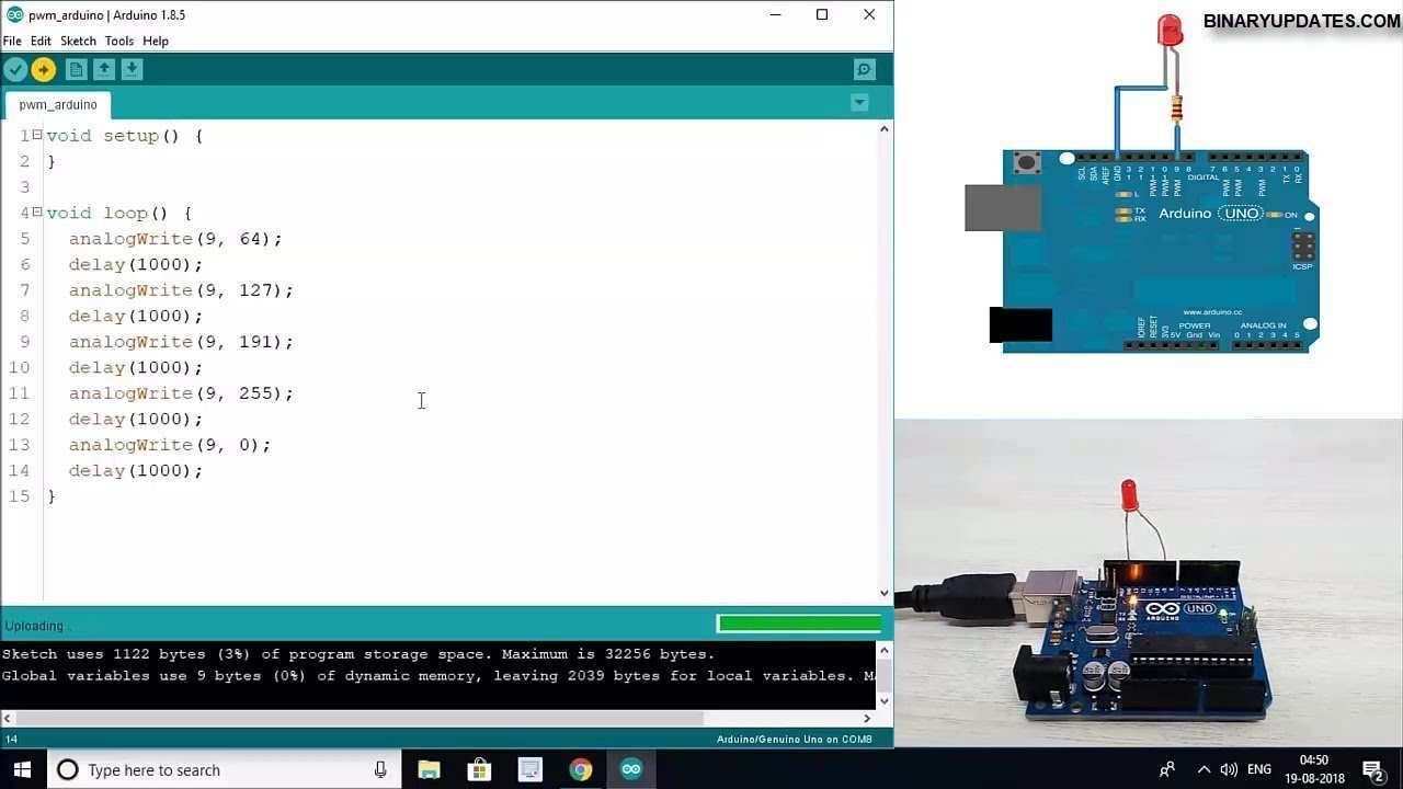 Pwm In Arduino Pulse Width Modulation Youtube