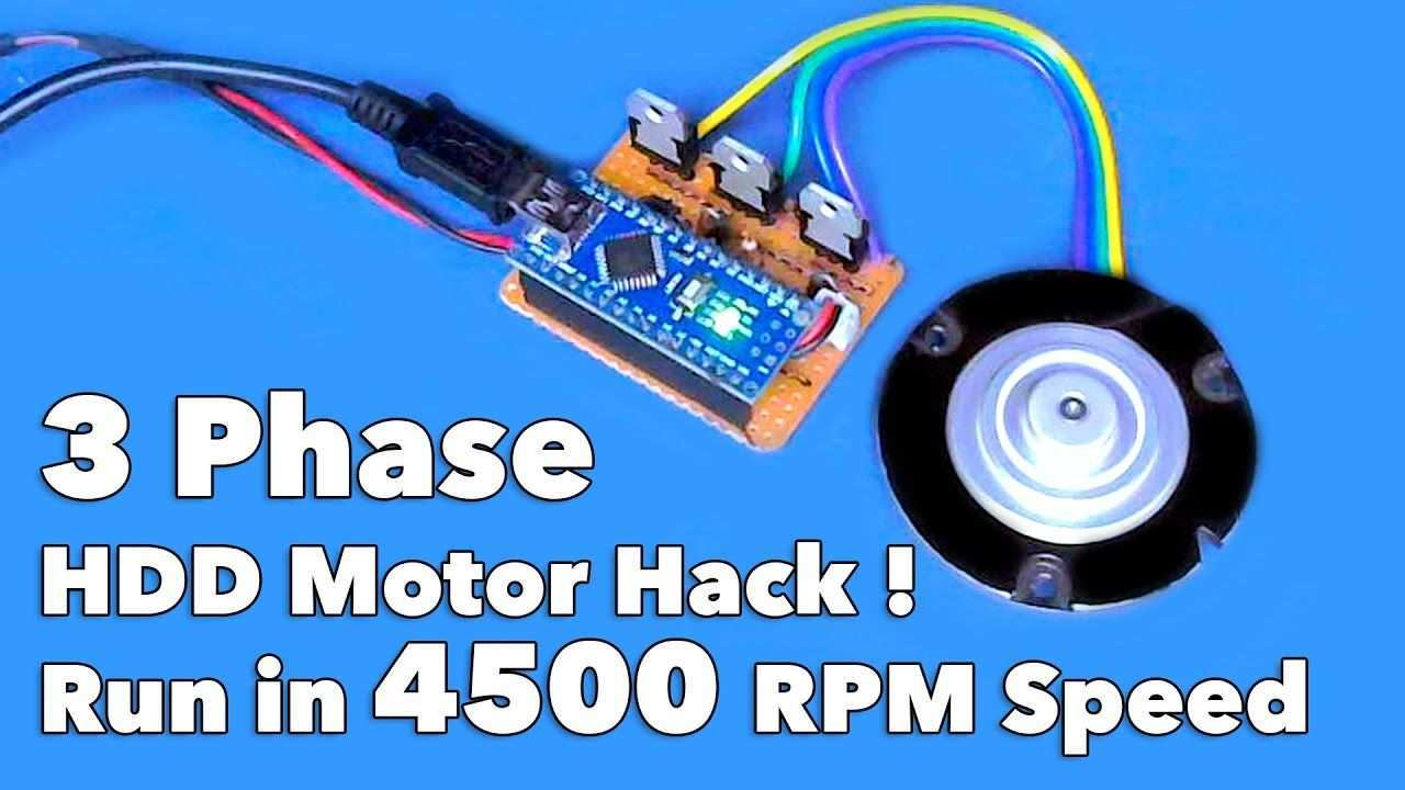 3 Phase Hdd Motor Run In 4500 Rpm Speed Using Arduino Arduino Electronics Projects Electronic Circuit Design