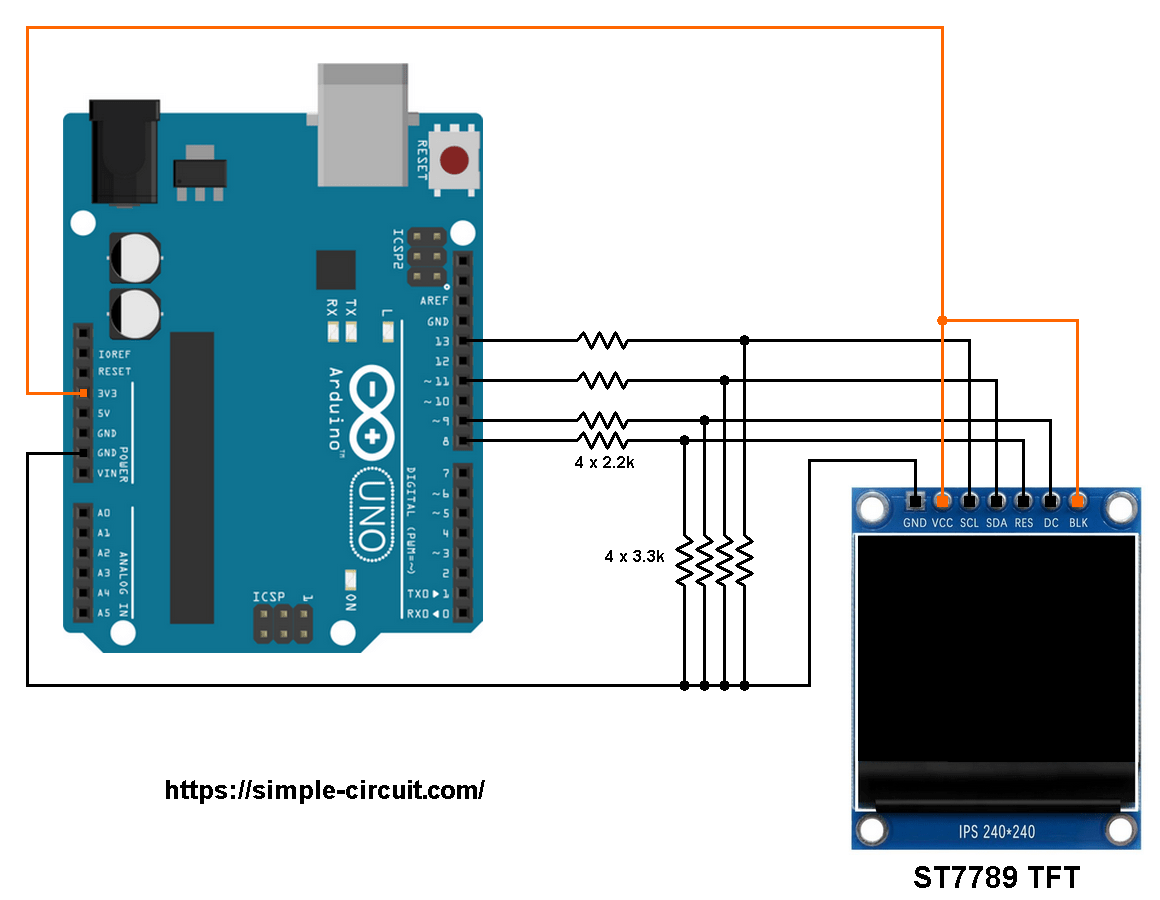 Interfacing Arduino With St7789 Tft Display Graphics Test Example