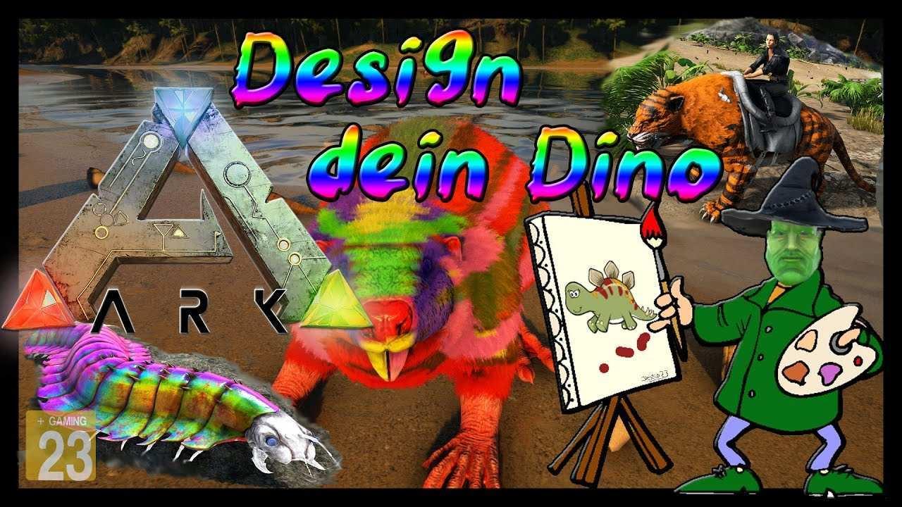 Ark Survival Evolved Tutorial Guide Deutsch Skins Malen Templates Dino Design Youtube