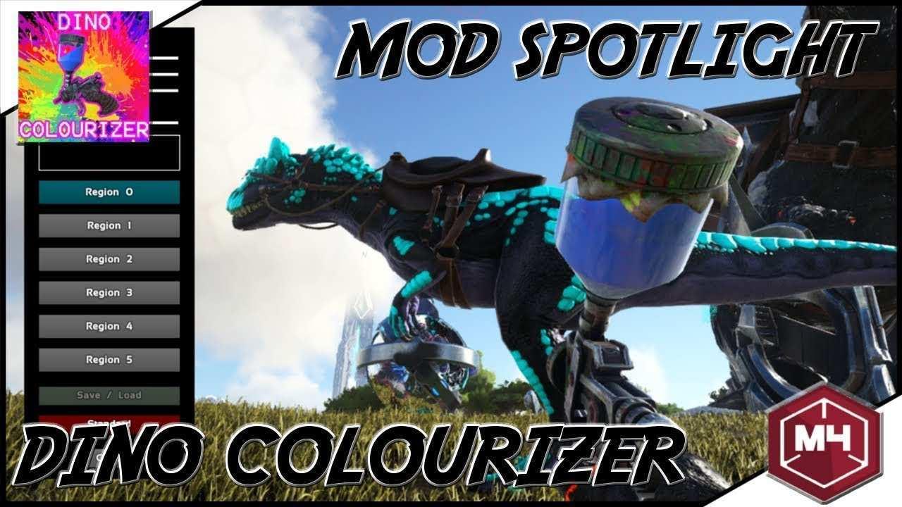 Ark Mod Spotlight Dinos Einfarben Wie Ihr Wollt Dino Colourizer Youtube