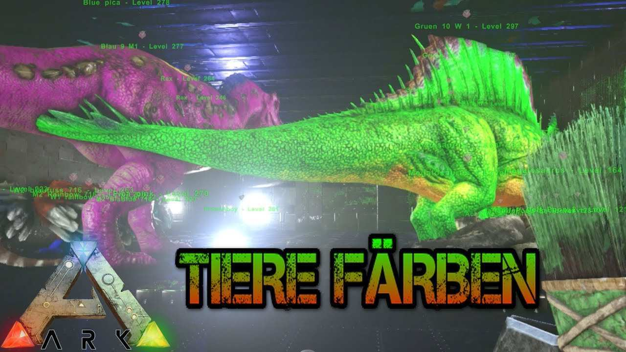 Ark Ps4 Tiere Farben Youtube