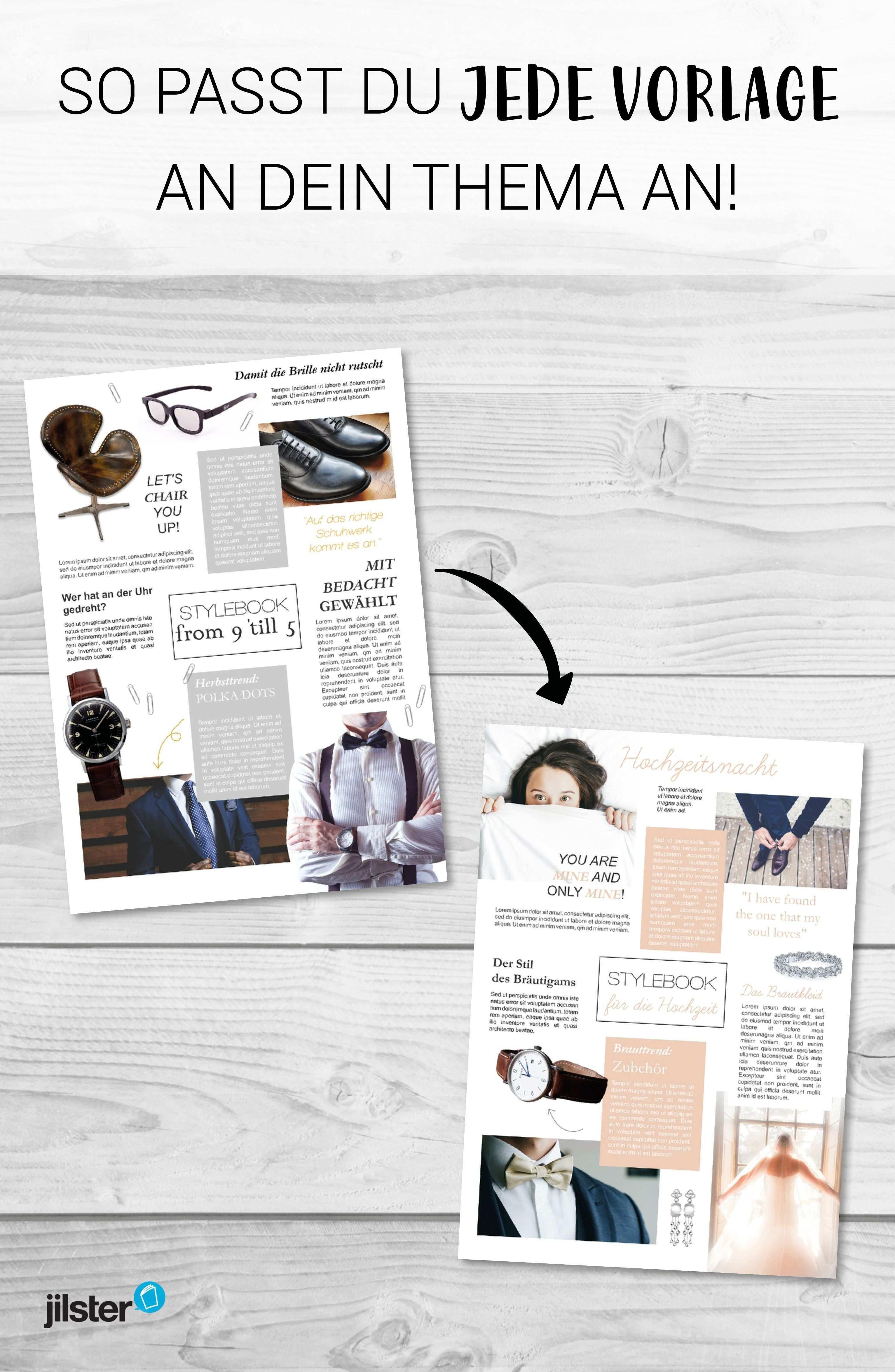 Zeitschriftenvorlage Individuell Deinem Thema Anpassen Jilster Blog Hochzeitszeitung Gestalten Vorlagen Hochzeitszeitung