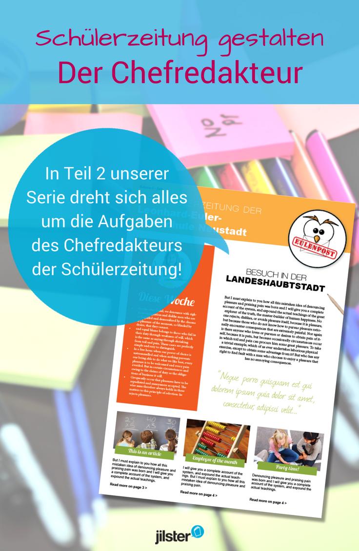 Teil 2 Was Macht Eigentlich Ein Chefredakteur Jilster Blog Schulerzeitung Public Relations Schuler