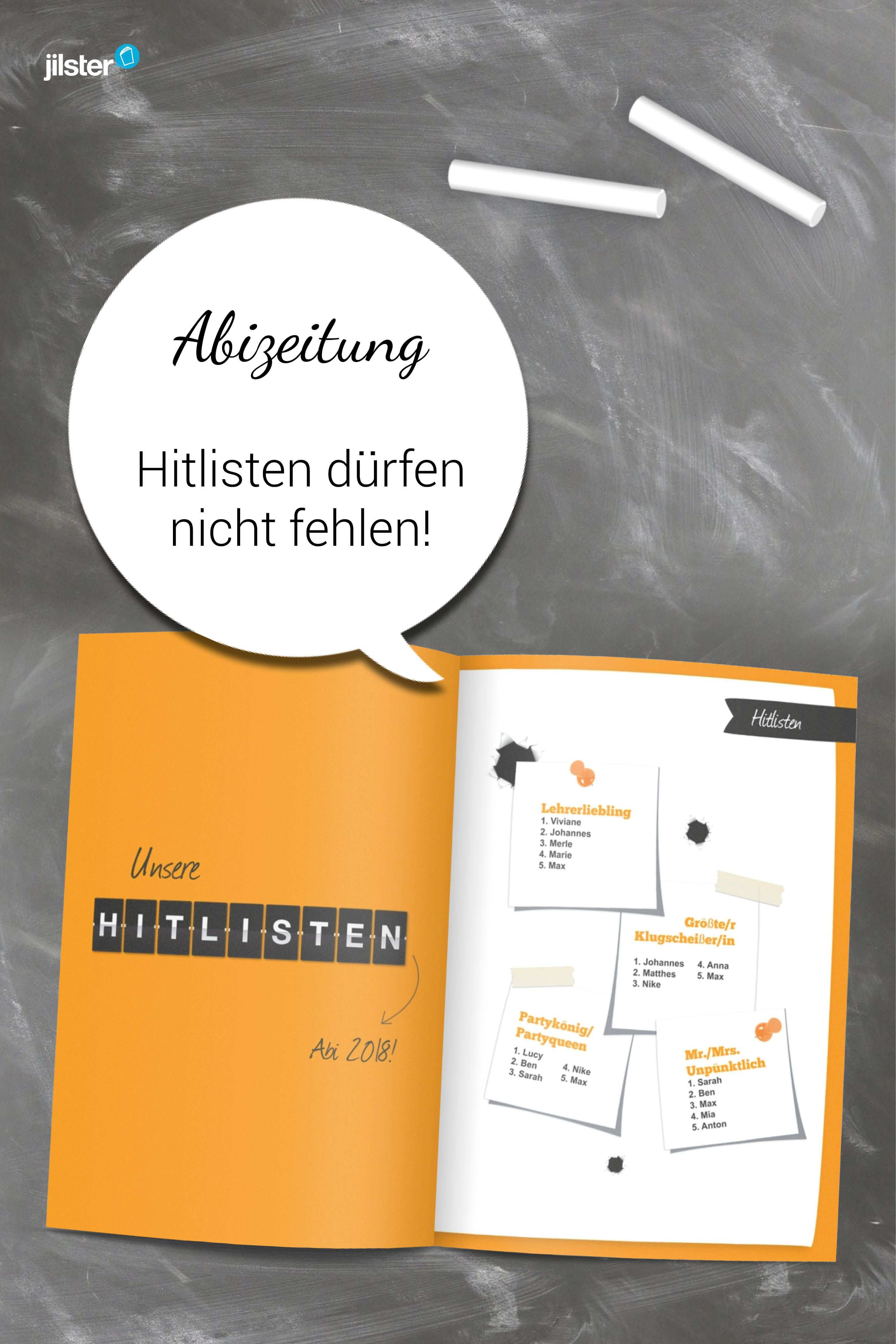 Hitlisten Statistiken Oder Stufenwahlen Gehoren In Jede Abizeitung Abizeitung Zeitung Schulerzeitung