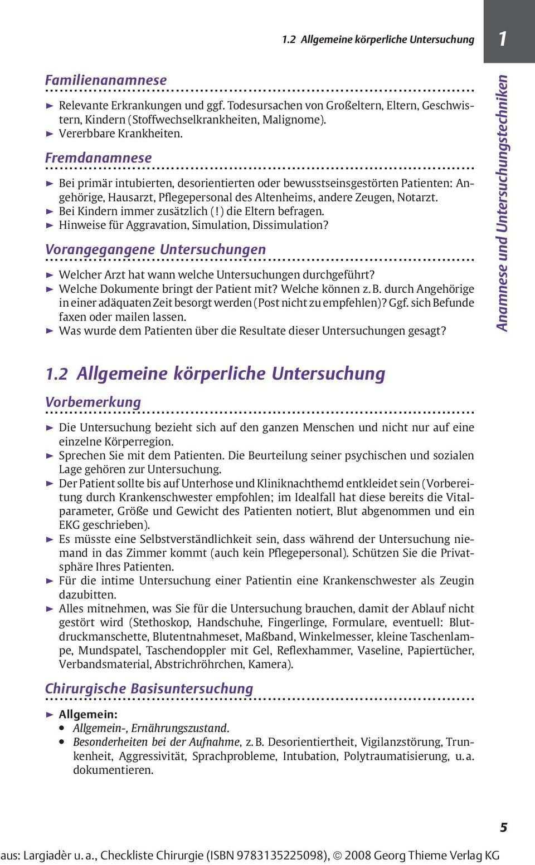 Checkliste Chirurgie Pdf Kostenfreier Download