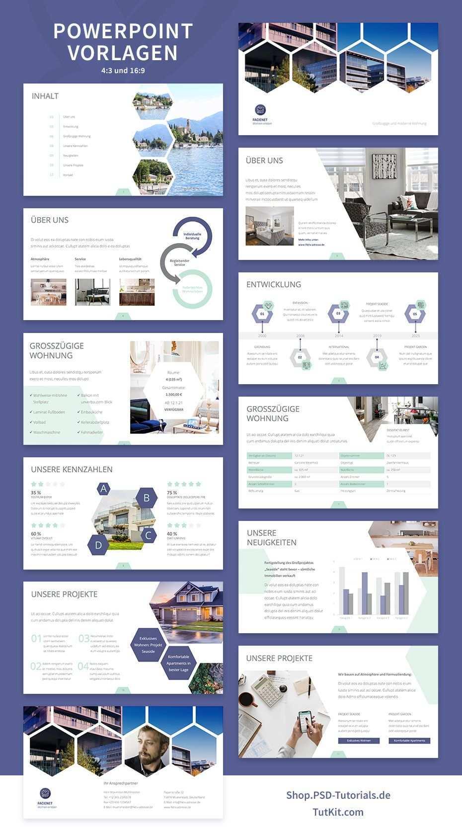 Vorlagen Fur Immobilienfirmen Und Architekturburos Vorlagen Expose Immobilien Power Point