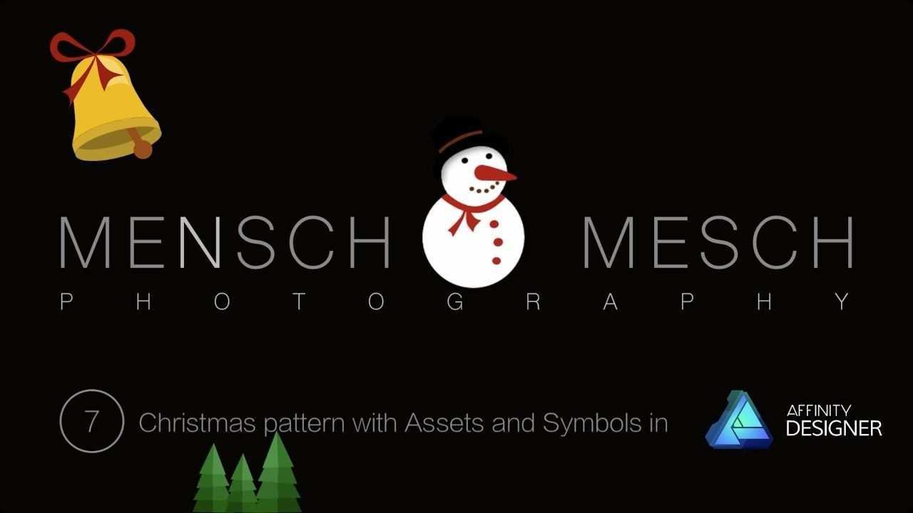 07 Weihnachtsmuster Mit Assets Und Symbolen Affinity Designer Weihnachtsmuster Produktdesign Muster