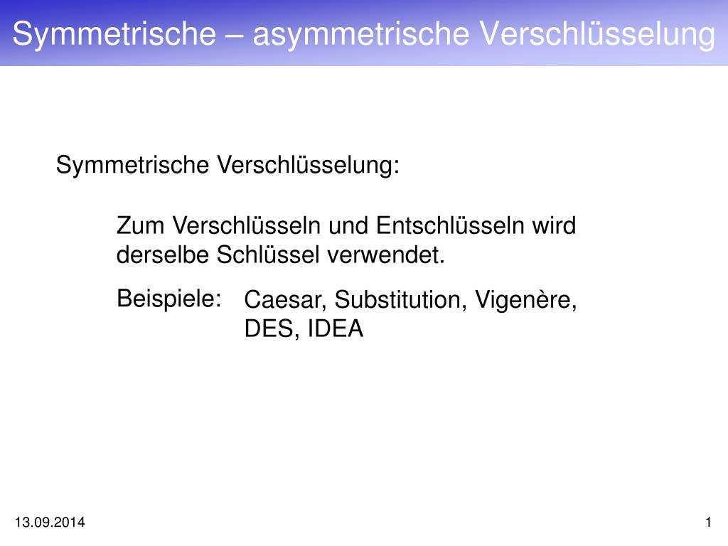 Ppt Symmetrische Asymmetrische Verschlusselung Powerpoint Presentation Id 4336528