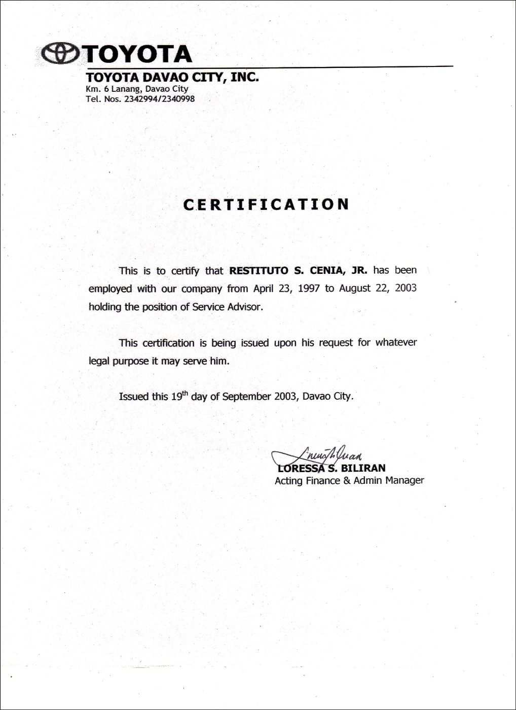 Employment Certificate Sample Word Template Design Word Template Certificate Templates