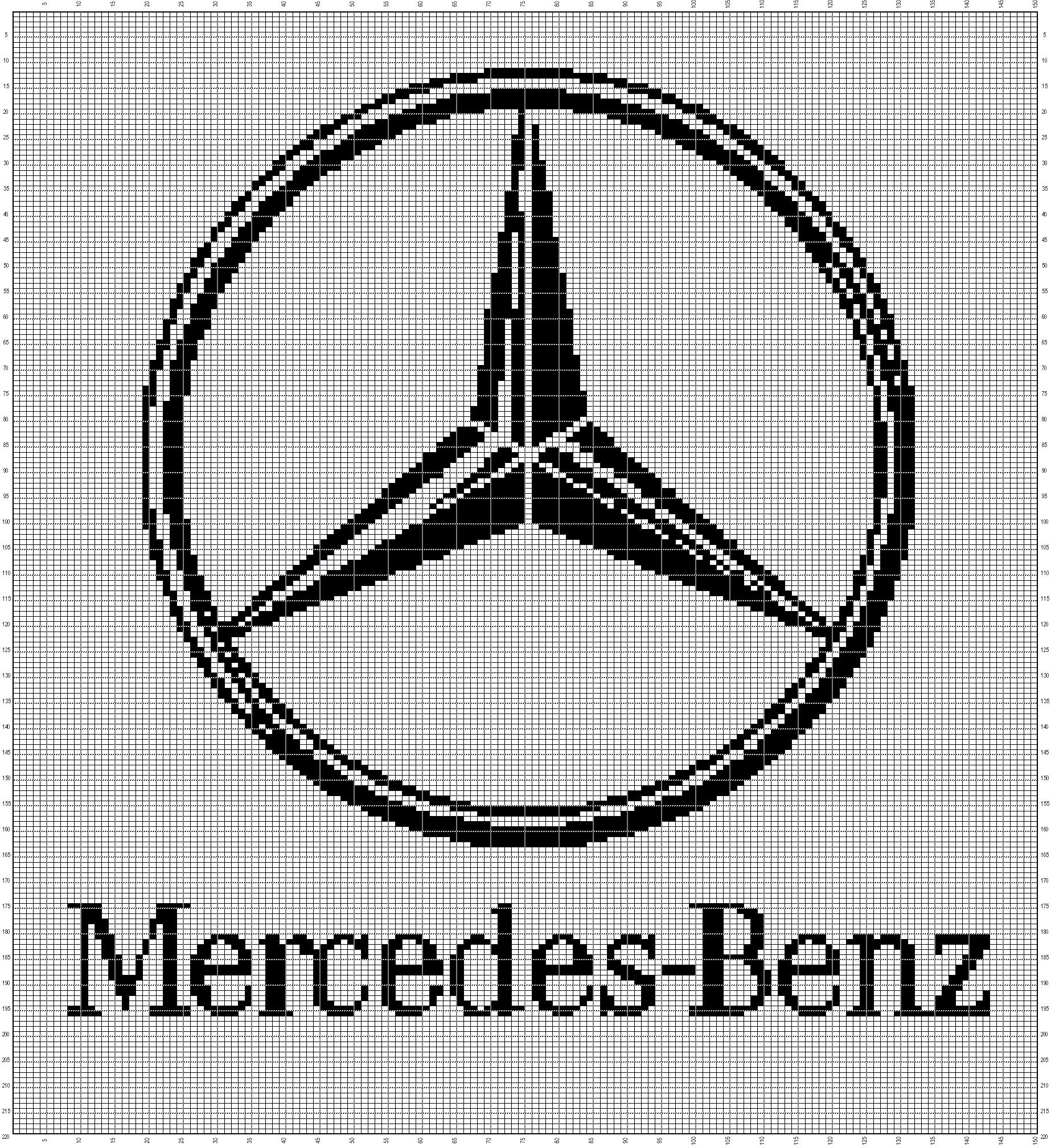Mercedes Benz 150x220 Kreuzstich Vorlagen Sticken