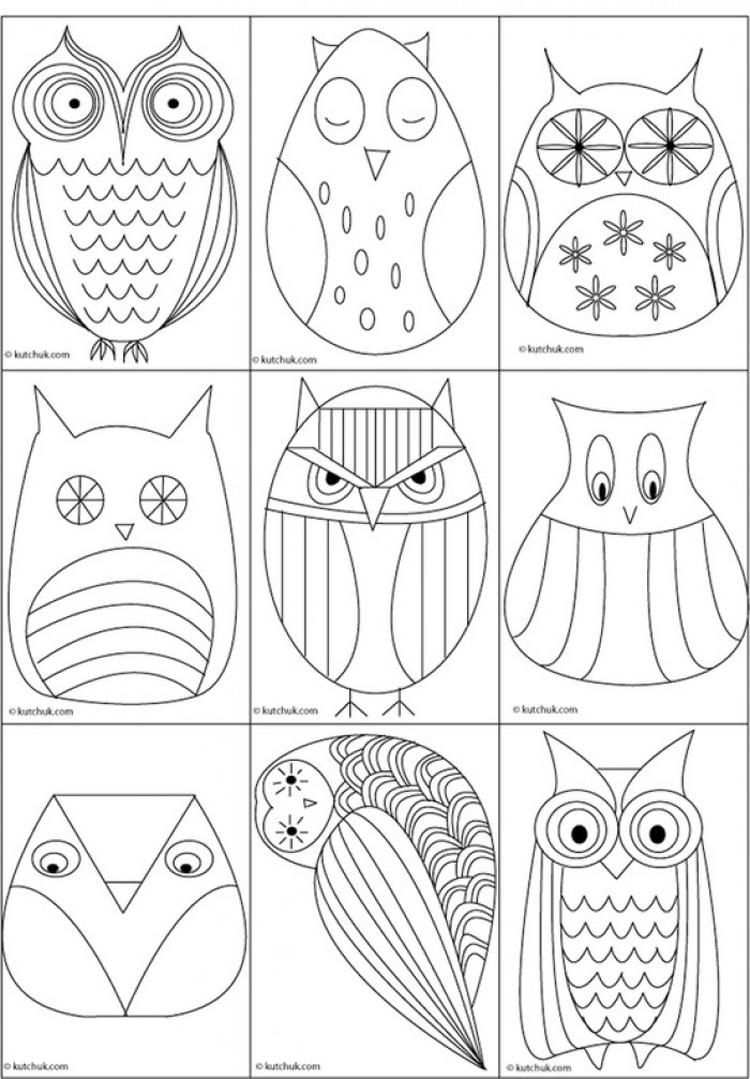 Tolle Eulen Vorlage Zum Zeichnen Und Ausmalen Owl Templates Art Lessons Art Projects