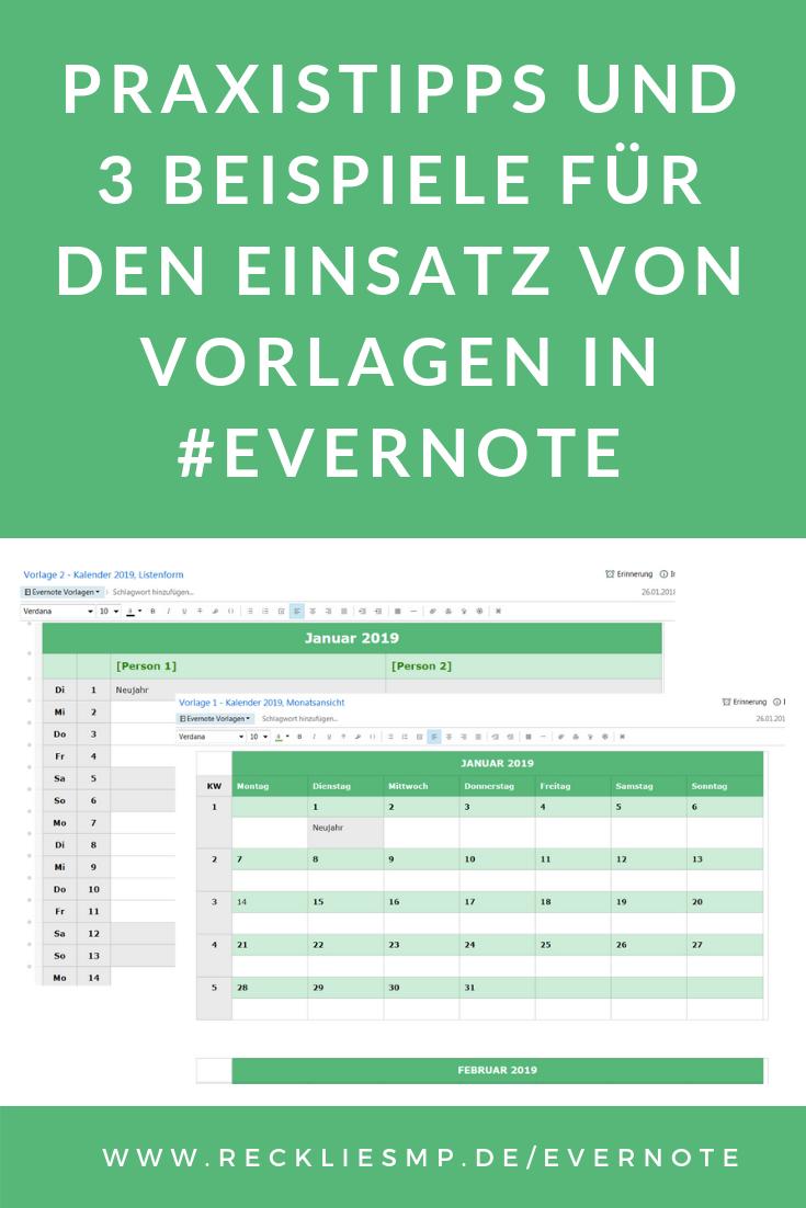 Vorlagen In Evernote Nutzlich Einfach Zeit Sparend Vorlagen Zeitmanagement Tipps