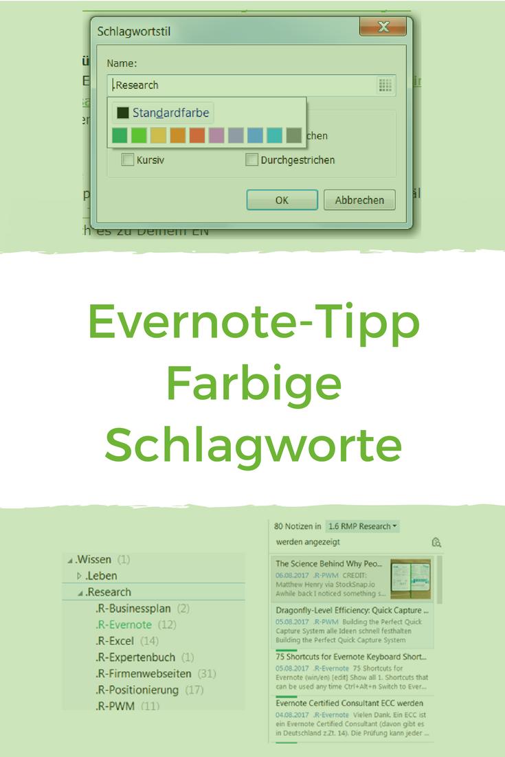 Evernote 5 Wichtige Individuelle Einstellungen Notizen Schneller Finden Evernote Tipps Und Tricks Schlagwort