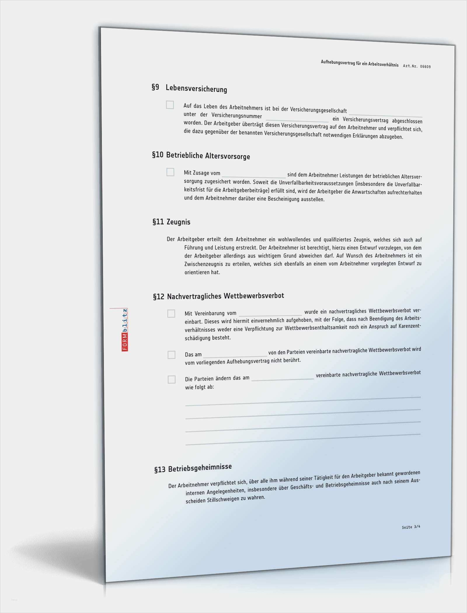 34 Beste Vorlage Aufhebungsvertrag Arbeitnehmer Modelle Vertrag Vorlagen Aufhebung