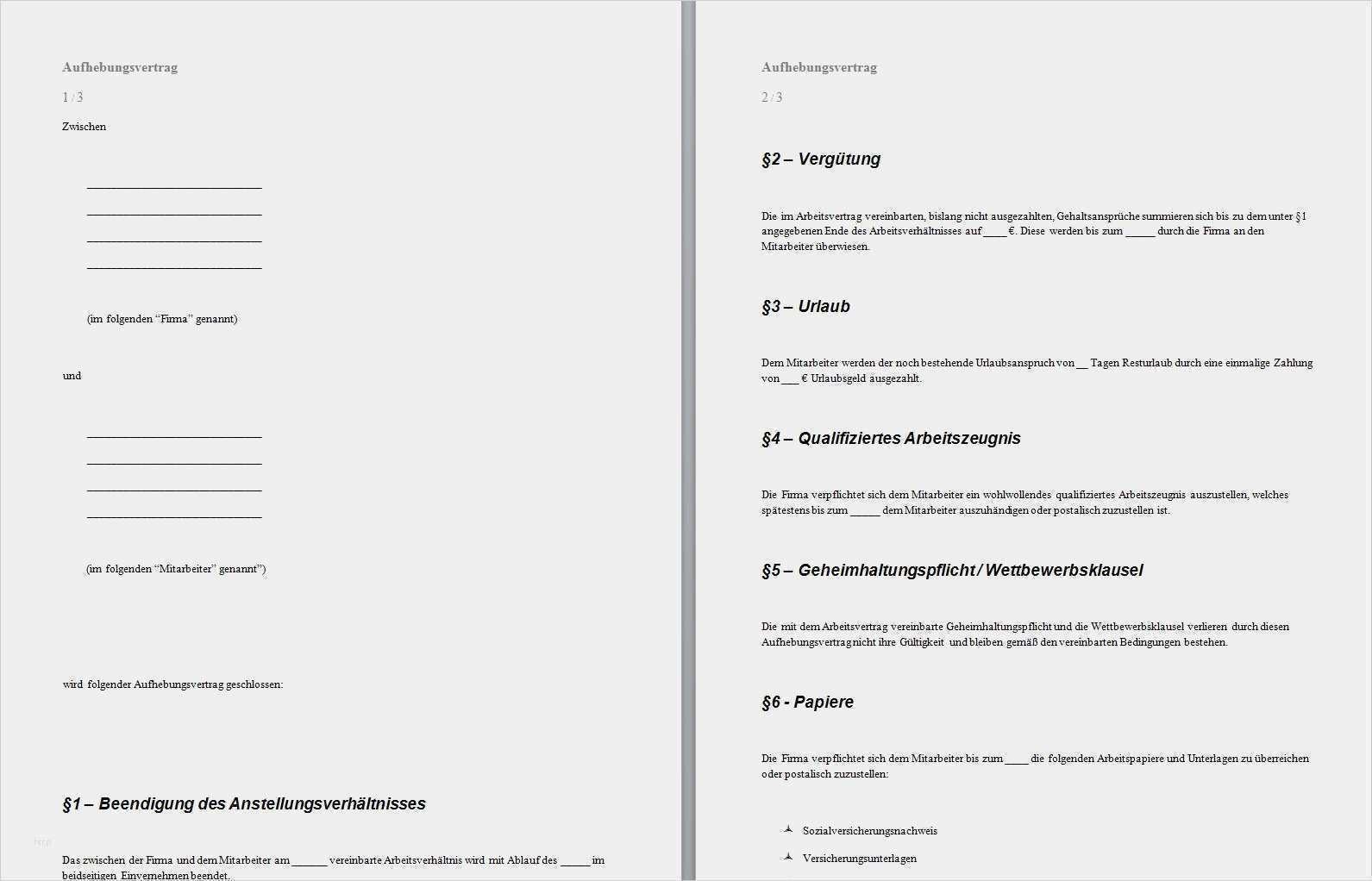 35 Einzigartig Aufhebungsvertrag Ohne Abfindung Vorlage Vorrate Vorlagen Lebenslauf Lebenslauf Briefkopf Vorlage