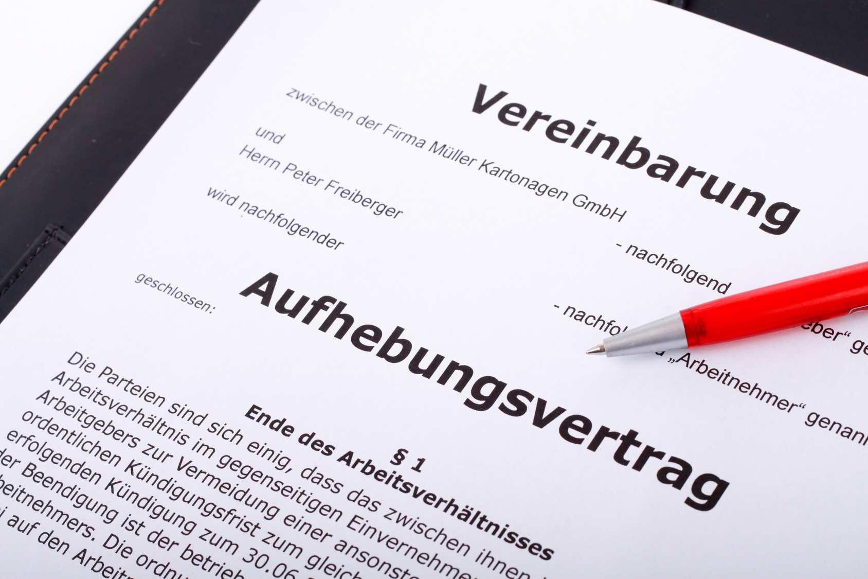 Abfindung Bei Aufhebungsvertrag Anspruch Und Hohe