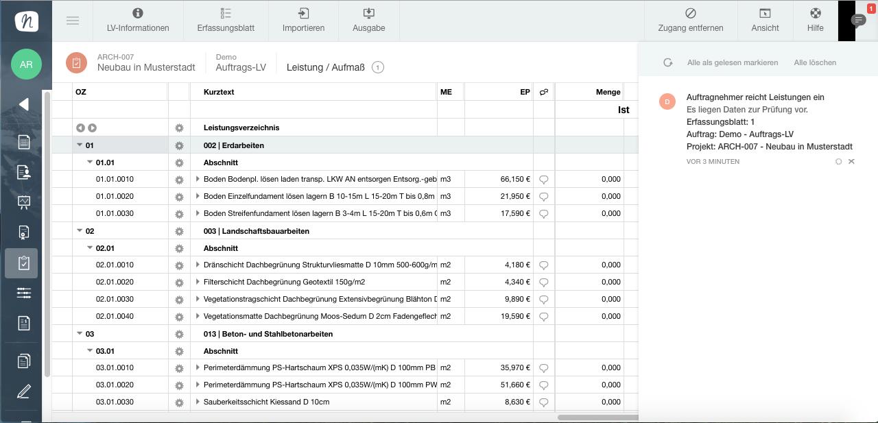 Aufmass Als Grundlage Der Abrechnung Inkl Test Nova Aufmass App Architektur Studieren Info