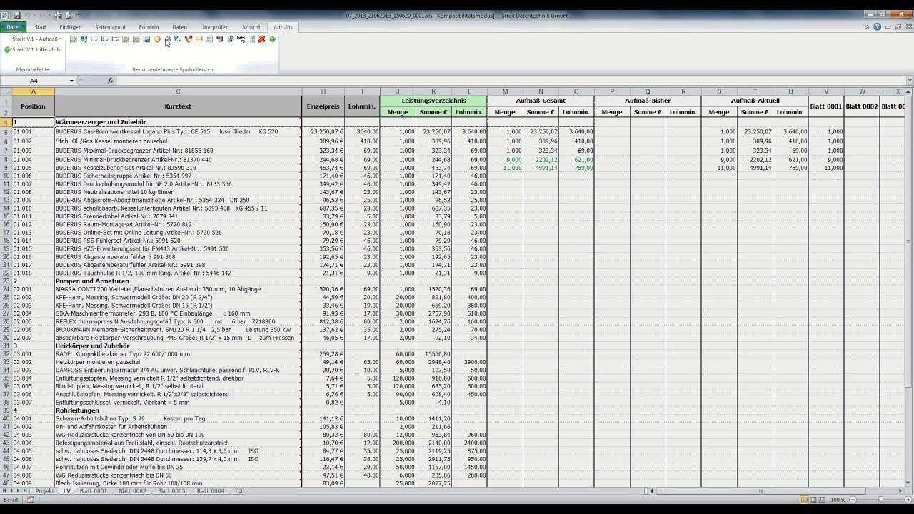 Mobiles Aufmassprogramm Fur Excel Streit Datentechnik