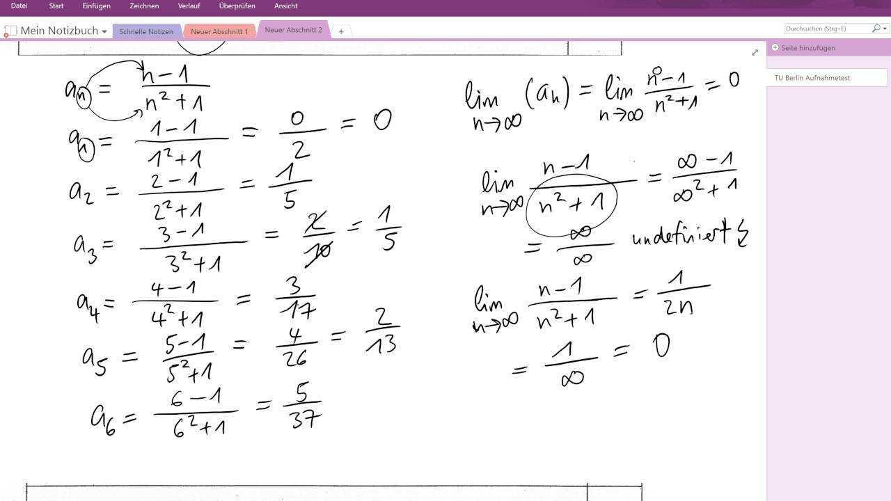Tu Berlin Muster 2 A9 A13 Aufnahmetest Mathematik Youtube