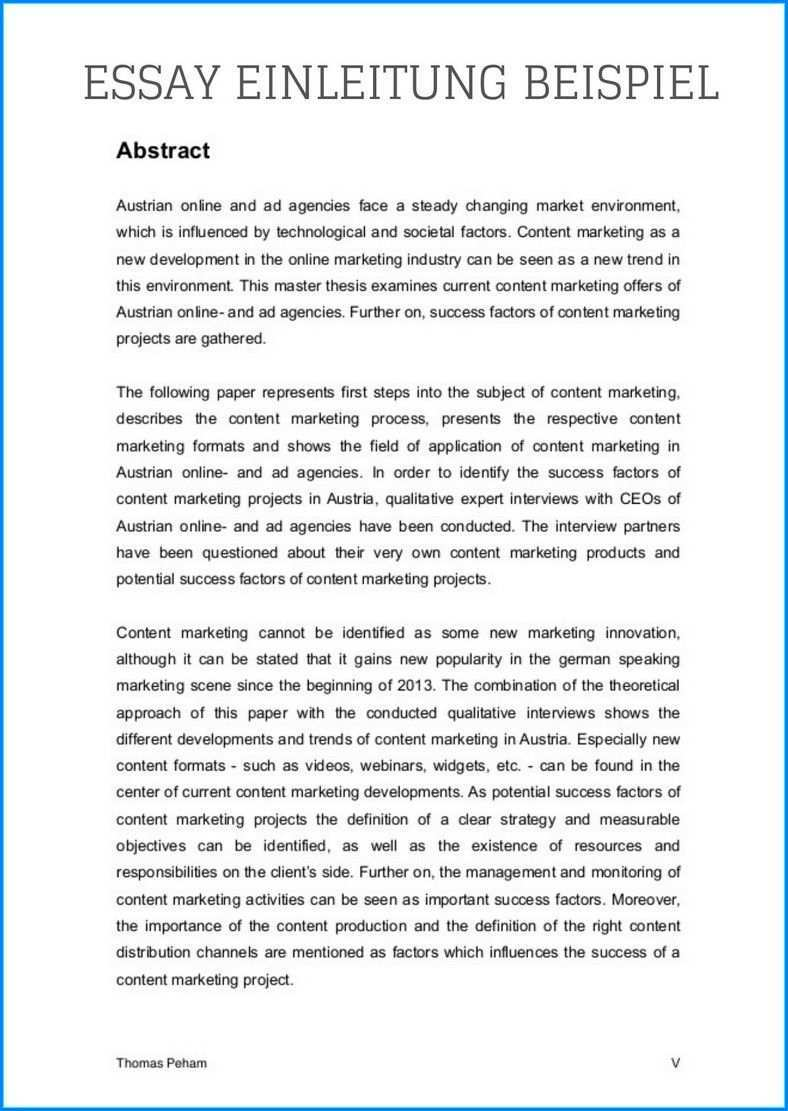 11 Essay Einleitung Beispiel Wissenschaft Und Wirtschaft Einleitung Essay Schreiben Wissenschaft