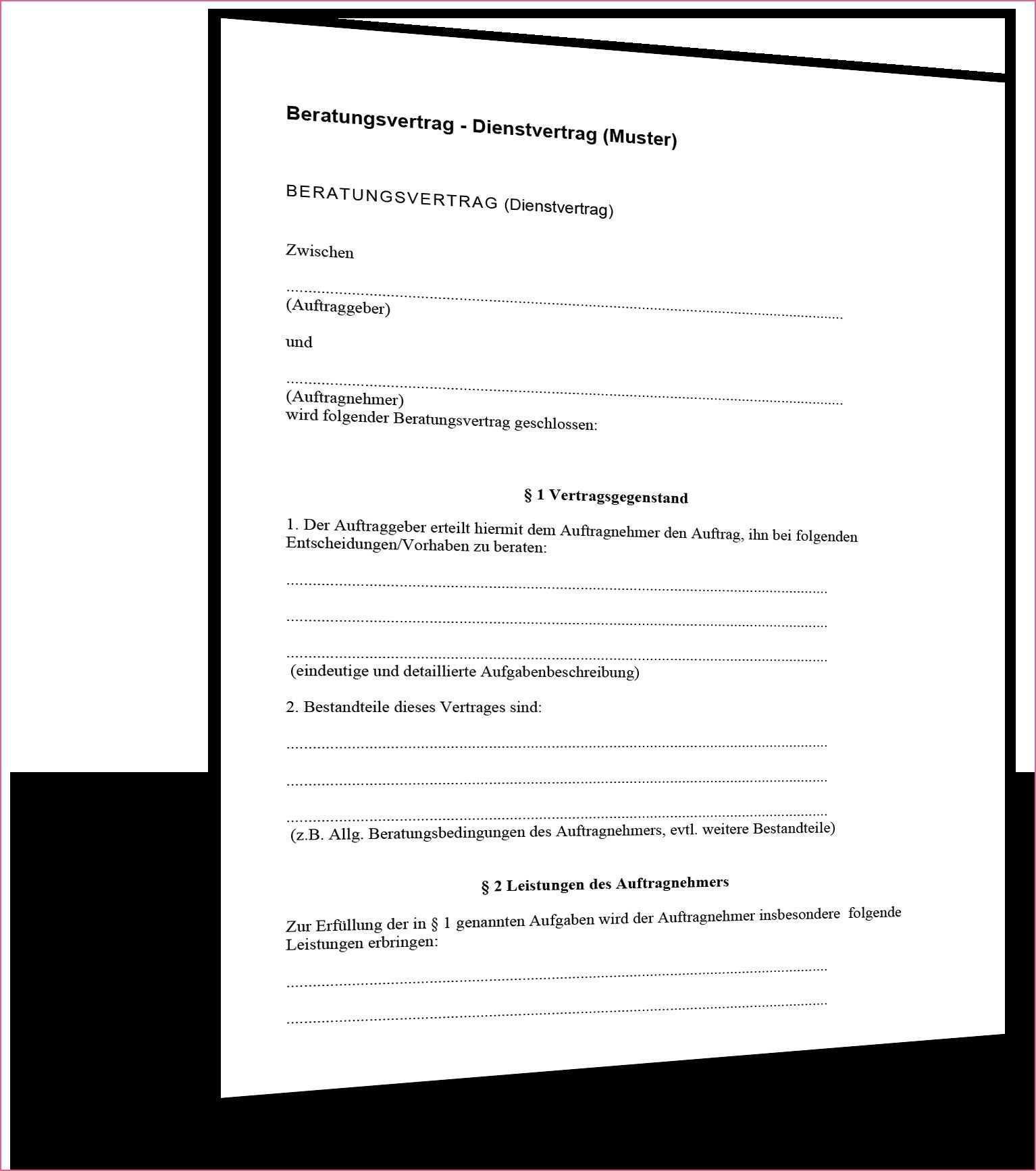 Kooperationsvertrag Muster Dienstleistungsvertrag In 2020 Modelvertrag Vertrag Muster