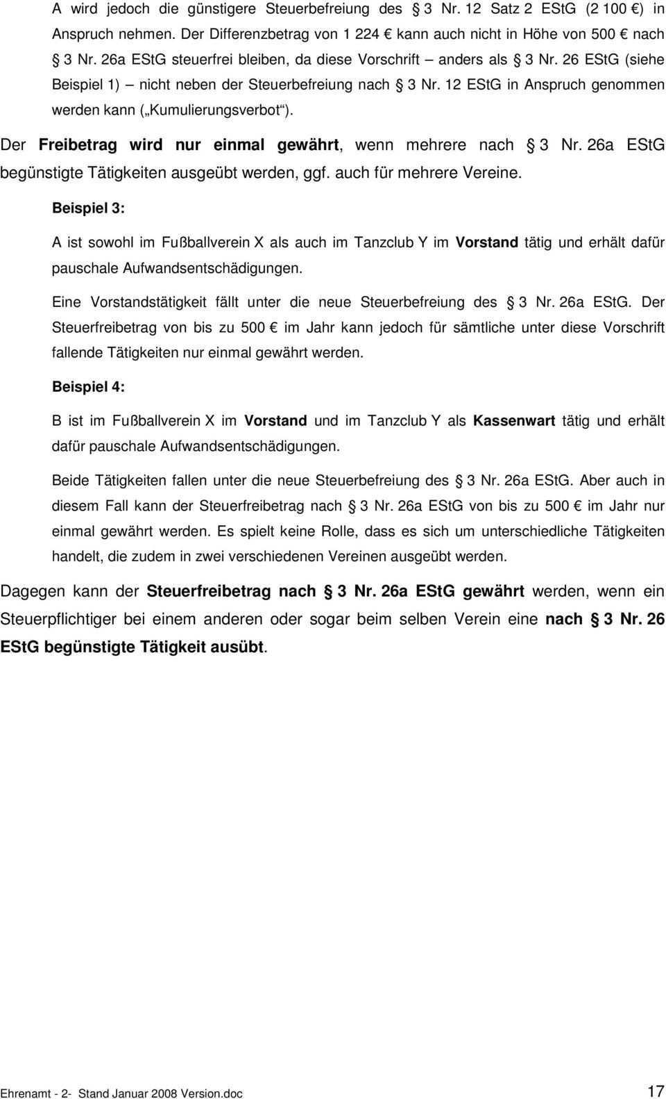 Ehrenamt Und Einkommensteuer Allgemeine Grundsatze Pdf Kostenfreier Download