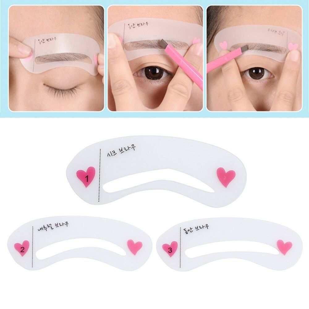 Elecool 3 Arten Wiederverwendbare Augenbraue Zeichnung Leitfaden Karte Augenbraue Vorlage For Augenbrauen Augenbrauen Zeichnen Augenbrauen Schablone