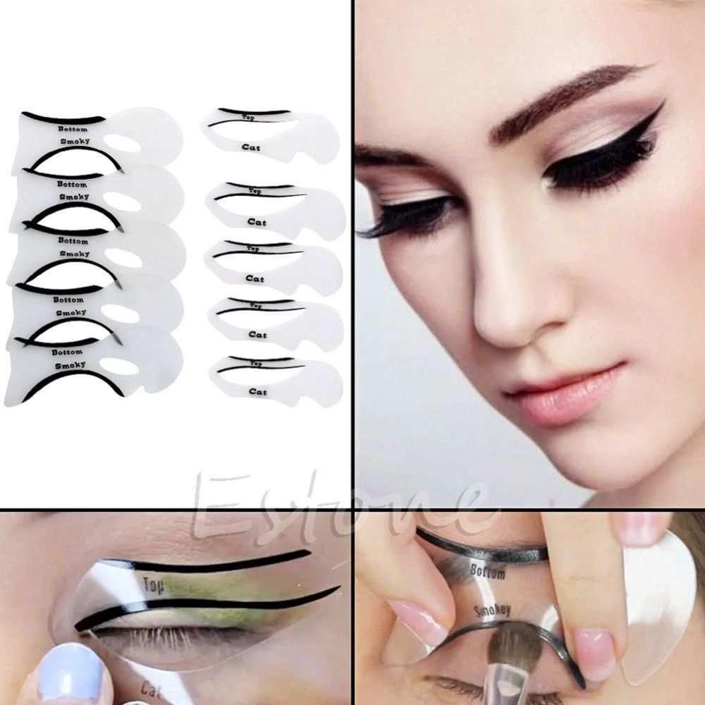 Cat Eye Eyeliner Stencil Models Template 10pcs Eyeliner Stencil Cat Eye Eyeliner Eye Makeup