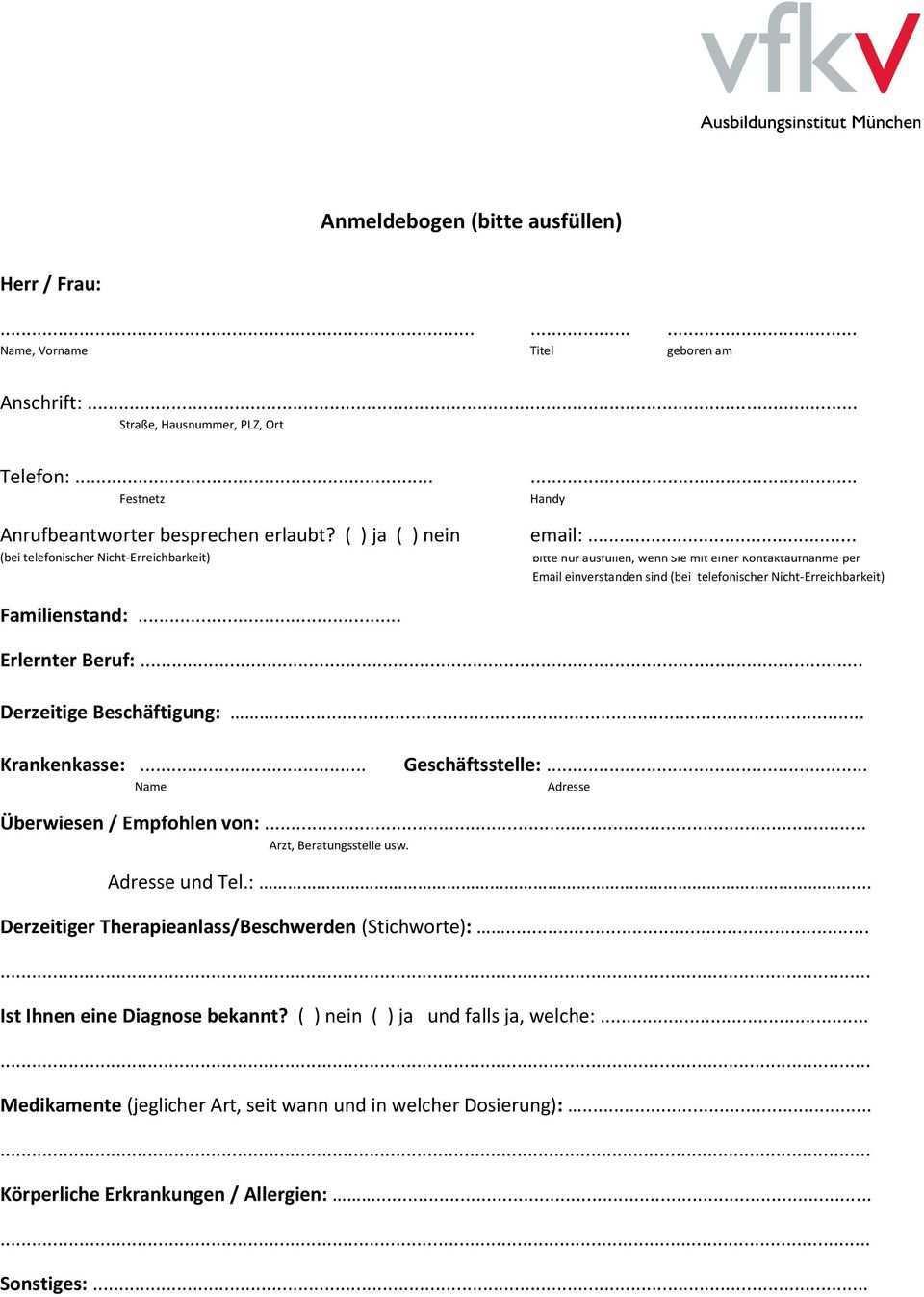 Ihre Anfrage Nach Psychotherapie Sehr Geehrte Patientin Sehr Geehrter Patient Pdf Free Download
