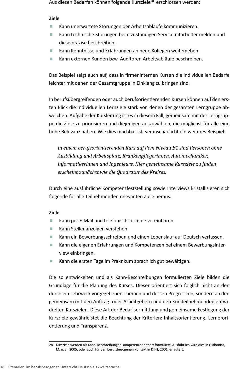 Szenarien Grundlagen Anwendungen Praxisbeispiele Im Berufsbezogenen Unterricht Deutsch Als Zweitsprache Szene Pdf Kostenfreier Download