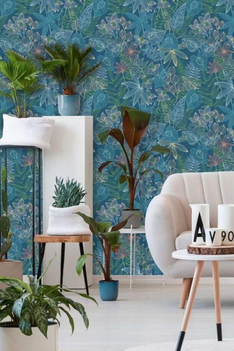 Tapeten In Turkis Die Colibri Kollektion Bringt Farbe An Deine Wande Farben Und Tapeten Tapeten Ausgefallene Tapeten