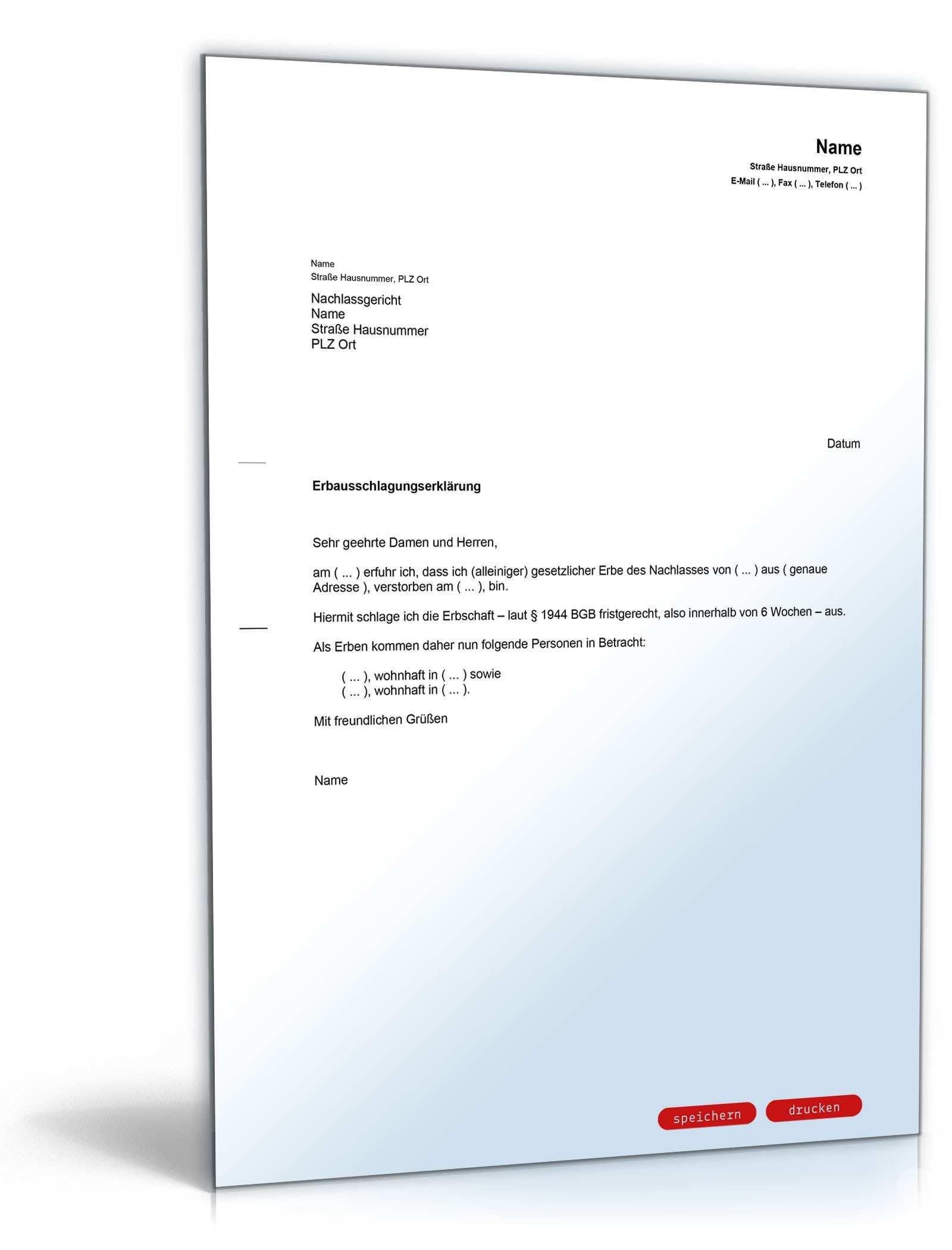 Vorlagen Paket Erbschaft Vorlagen Zum Download