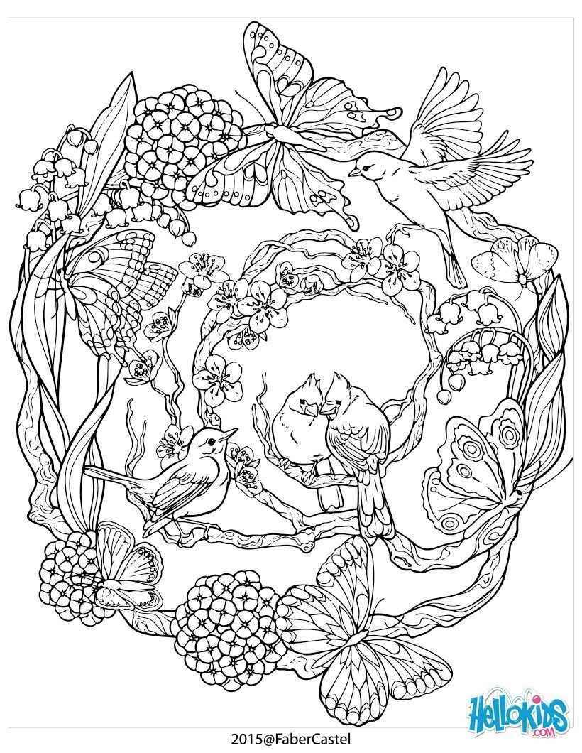 Mandala Mit Naturlichen Muster Adult Coloring Pages