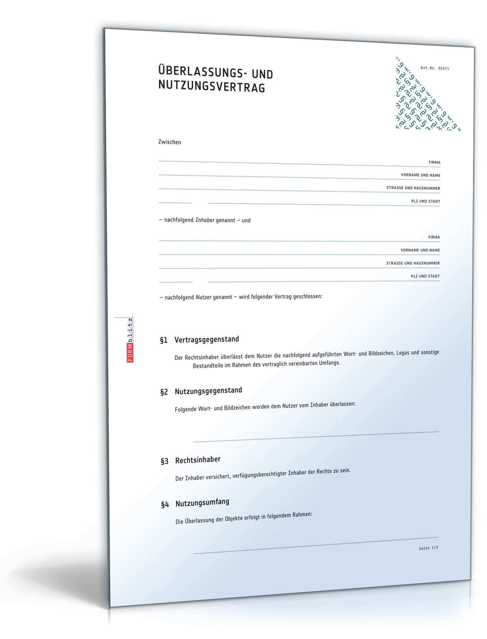 Markenvertrag Rechtssicheres Muster Zum Download