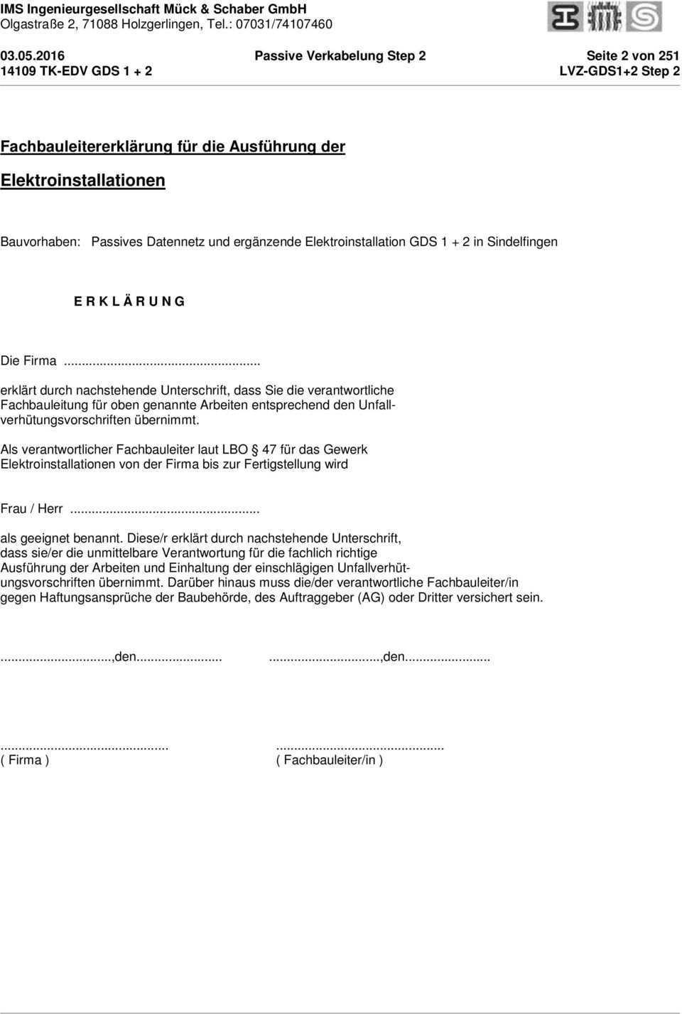Leistungsverzeichnis Passives Datennetz Und Erganzende Elektroinstallation Gds Step 2 Ingenieurgesellschaft Muck Schaber Gmbh Pdf Kostenfreier Download
