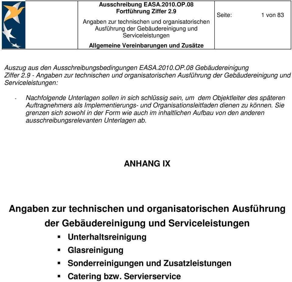 Angaben Zur Technischen Und Organisatorischen Ausfuhrung Der Gebaudereinigung Und Serviceleistungen Pdf Kostenfreier Download