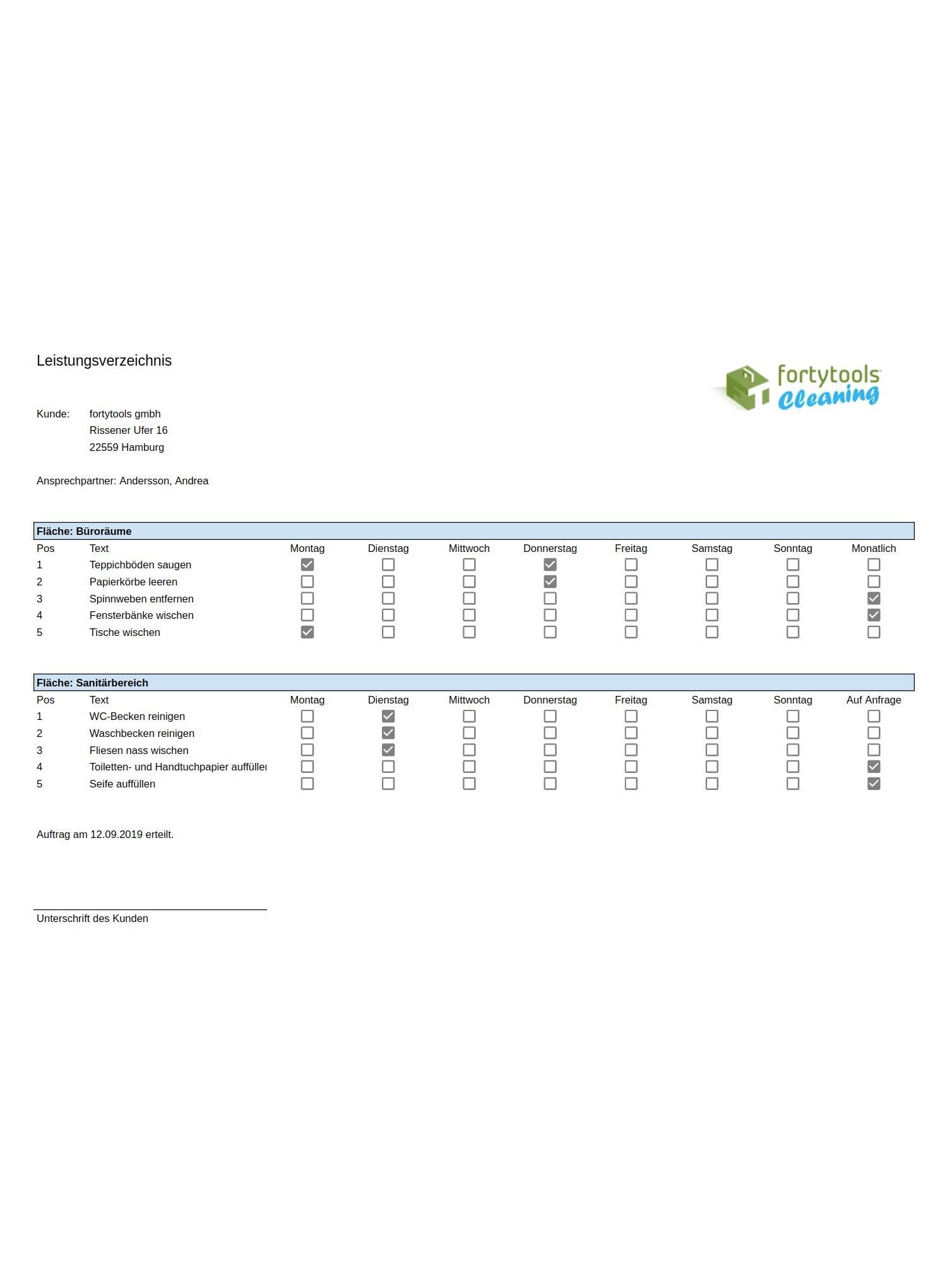 Vorlage Fur Leistungsverzeichnis Und Muster Leistungsverzeichnis Kostenlos