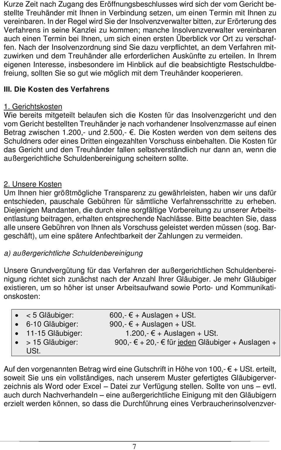 Merkblatt Und Fragebogen Zur Verbraucherinsolvenz Pdf Free Download