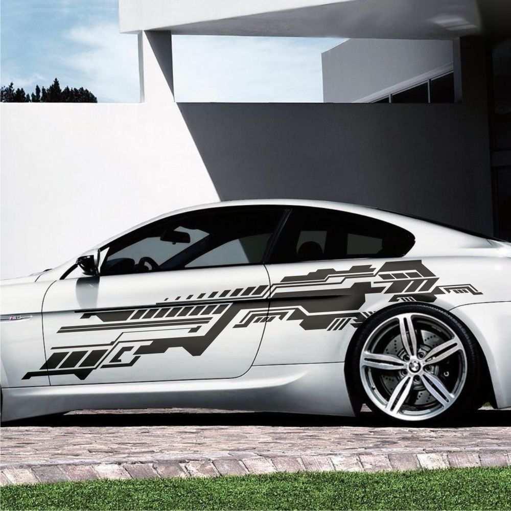 2x Future Design Grafik Seitenaufkleber 230cm Auto Aufkleber Tuning Folie S39 In Auto Motorrad Teile Auto Tuning Auto Aufkleber Aufkleber Autofolierung