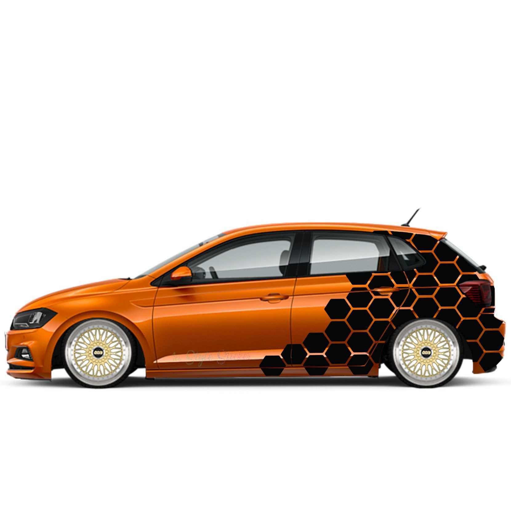 Auto Seiten Aufkleber Hexagon Waben Set 84 Teilig 2 Farbig Aufkleberset 6 Ebay Auto Aufkleber Kfz Folierung Autos