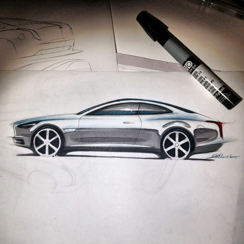 Marker Sketch Fahrzeuge Skizzen