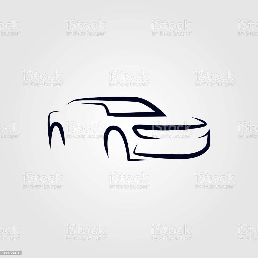 Silhouette Sport Auto Vektor Vorlage Stock Vektor Art Und Mehr Bilder Von Abstrakt Istock