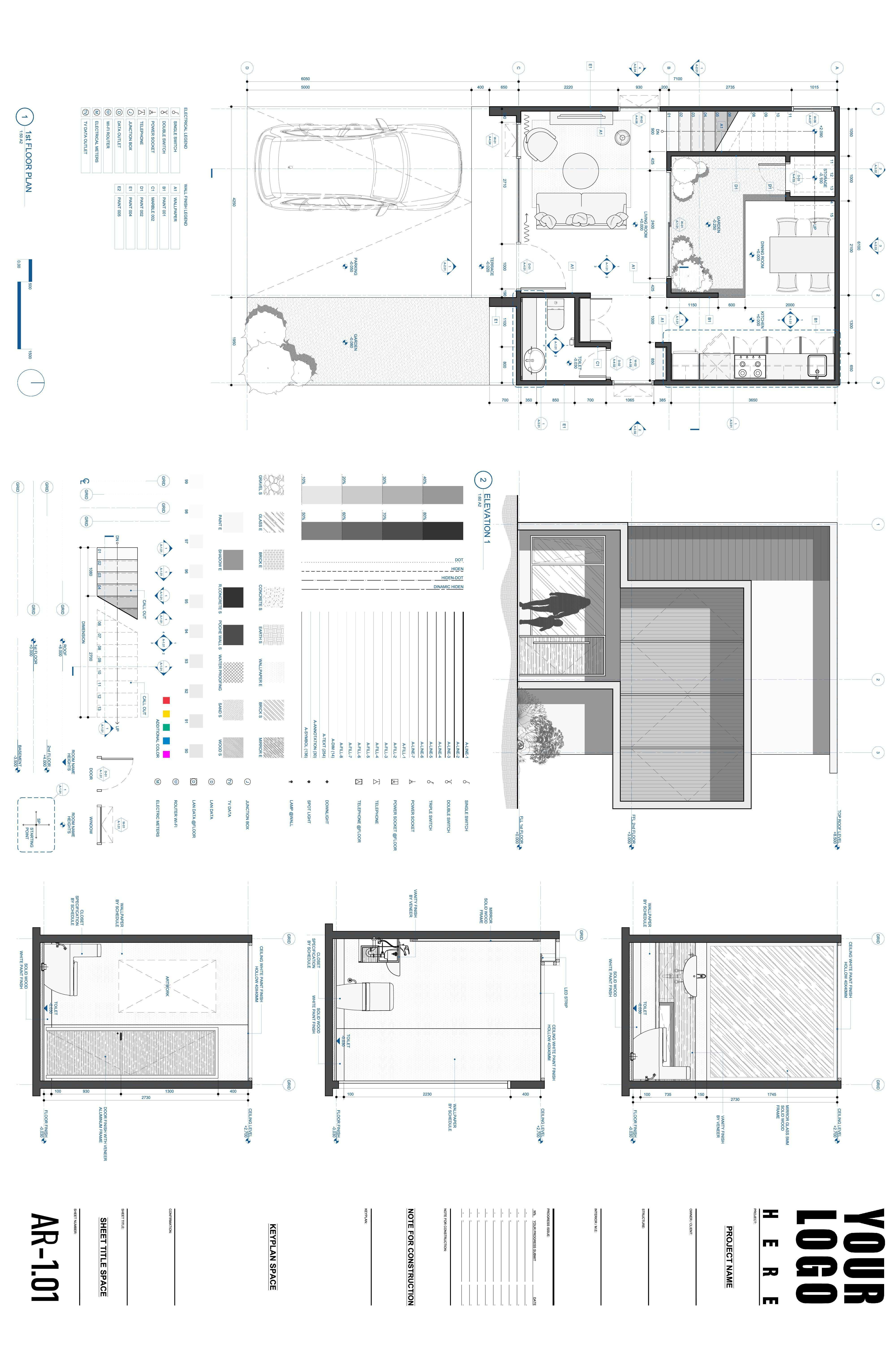 Autocad Template Architecture Drawing Architecture Drawing Plan Architecture Presentation Architecture Drawing