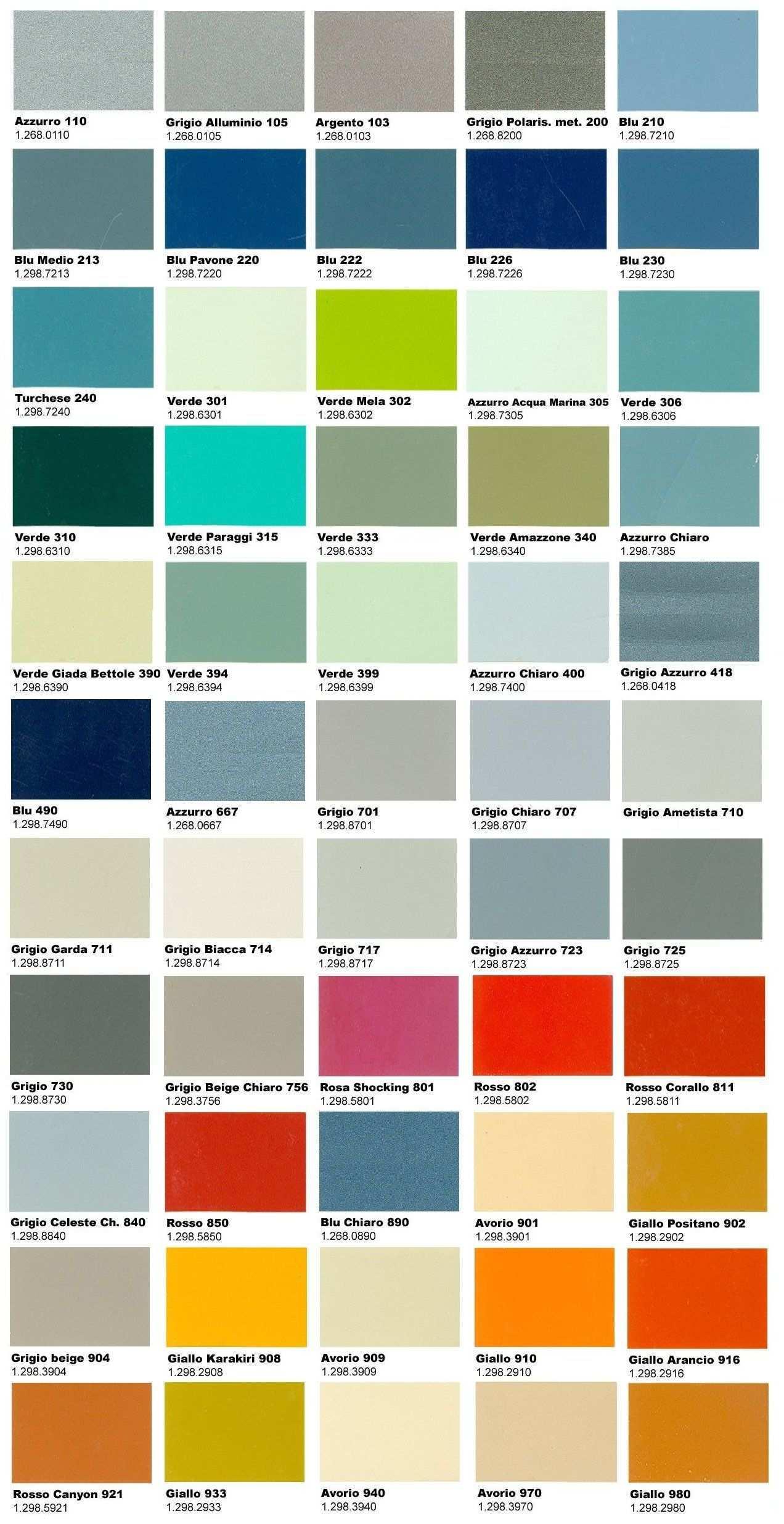La Gamma Definitiva Di Colori Originali Vespa Vespa Vespa Farben Vespa 200
