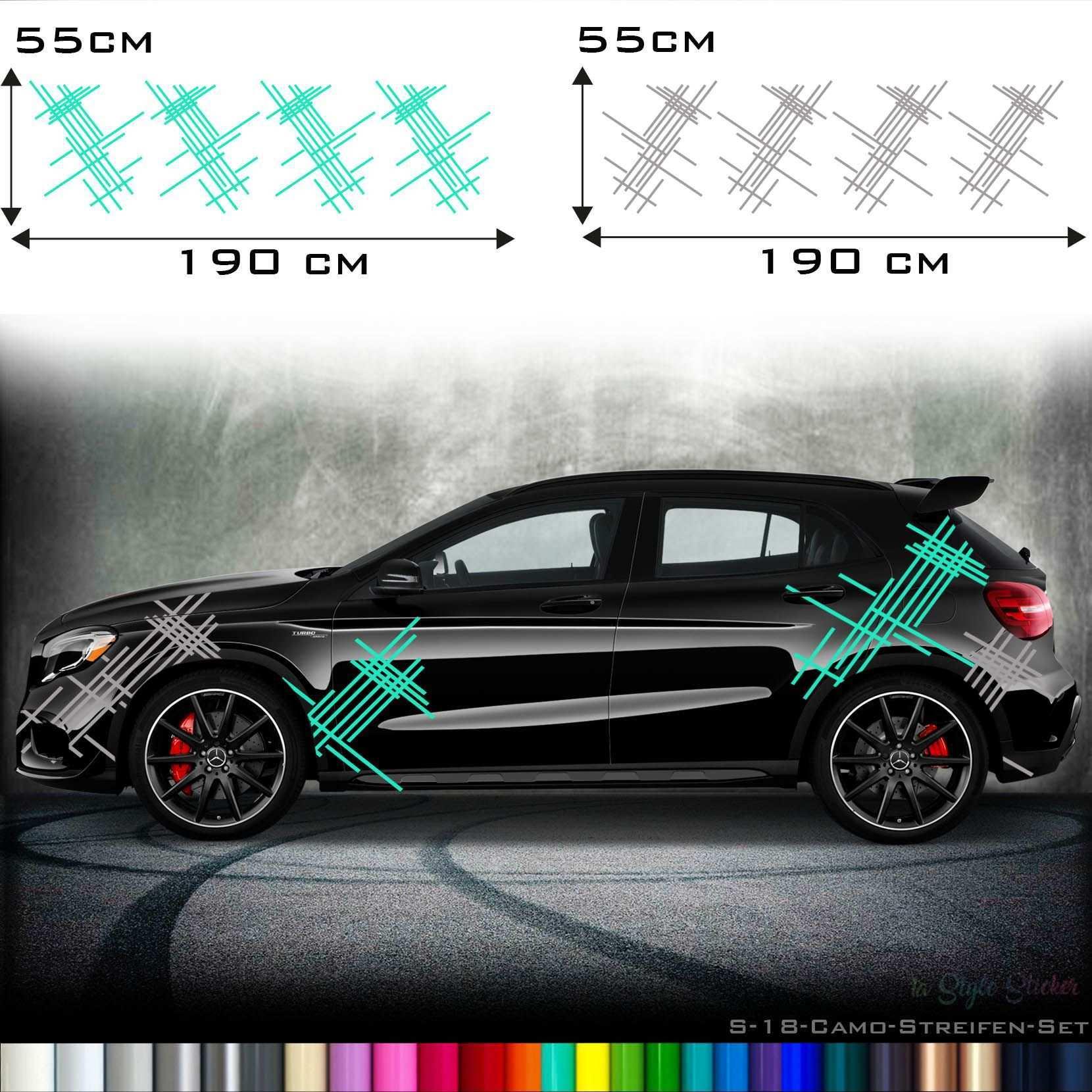 Seitenaufkleber Streifen Set Racing Dekor Aufkleber Auto Aufkleber Aufkleber Tuning Aufkleber