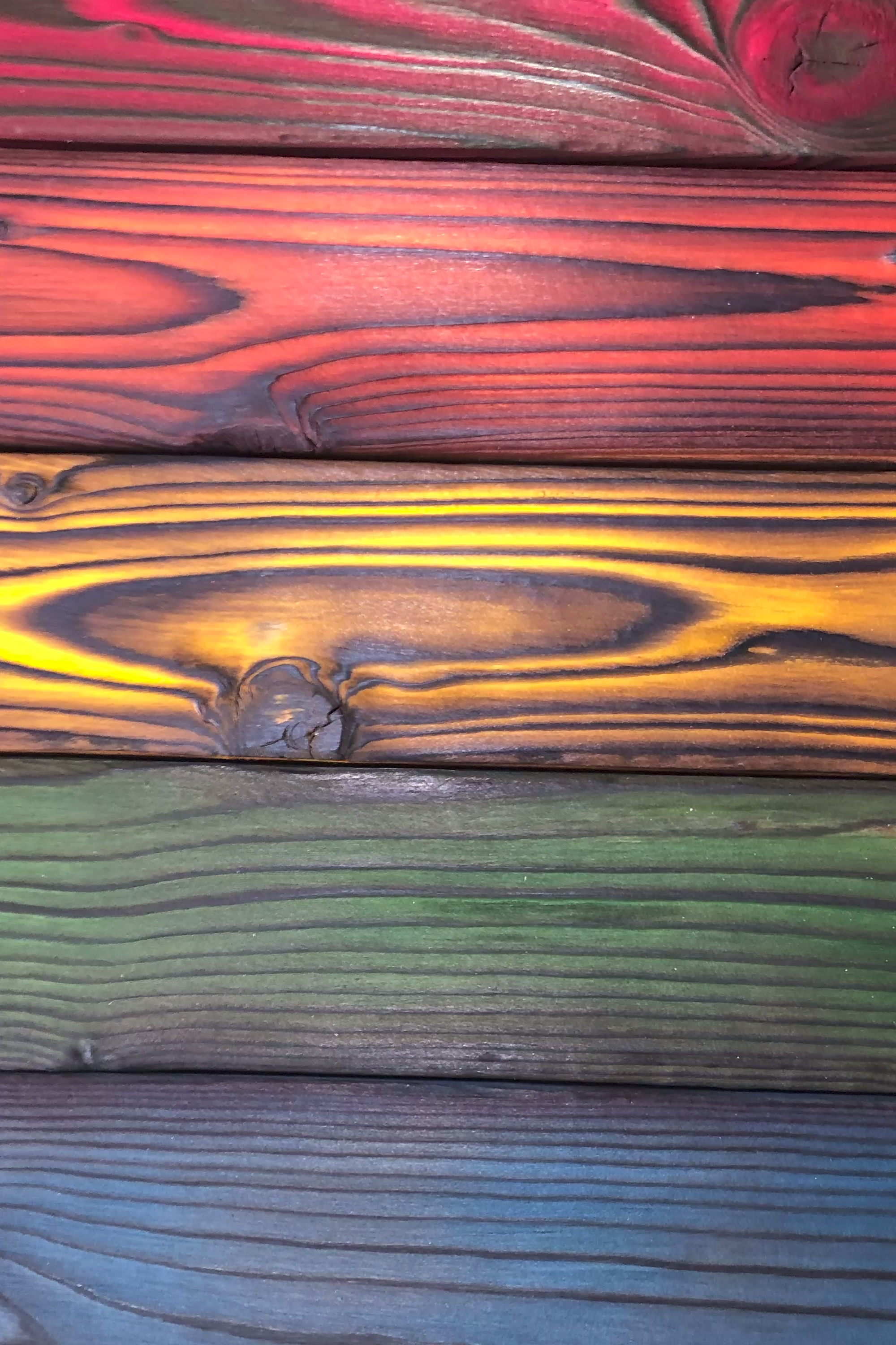 Shou Sugi Ban Burn Wood With Color How To Dye Wood With Keda Wood Dye Video Rustic Wood Crafts Staining Wood Woodworking