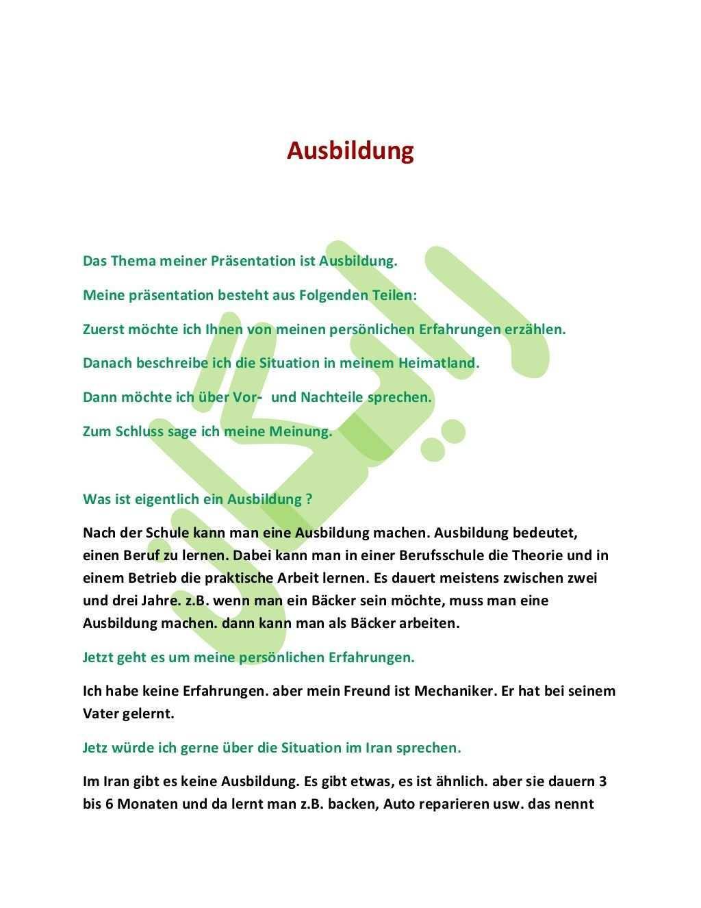 Goethe Zertifikat B1 Prufung Sprechen Themen Beispiele German Grammar Learn German German Language